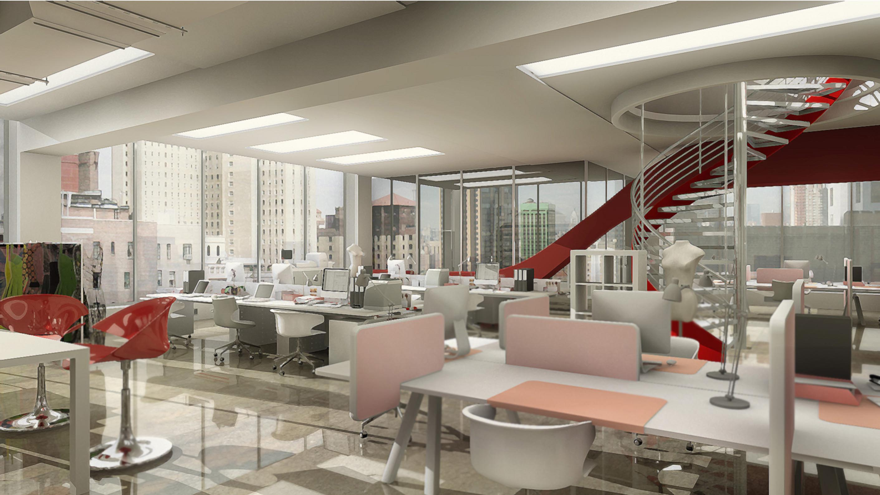 Miniature office interior for Diet Coke commercial