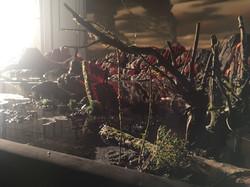 Foreground miniature model making