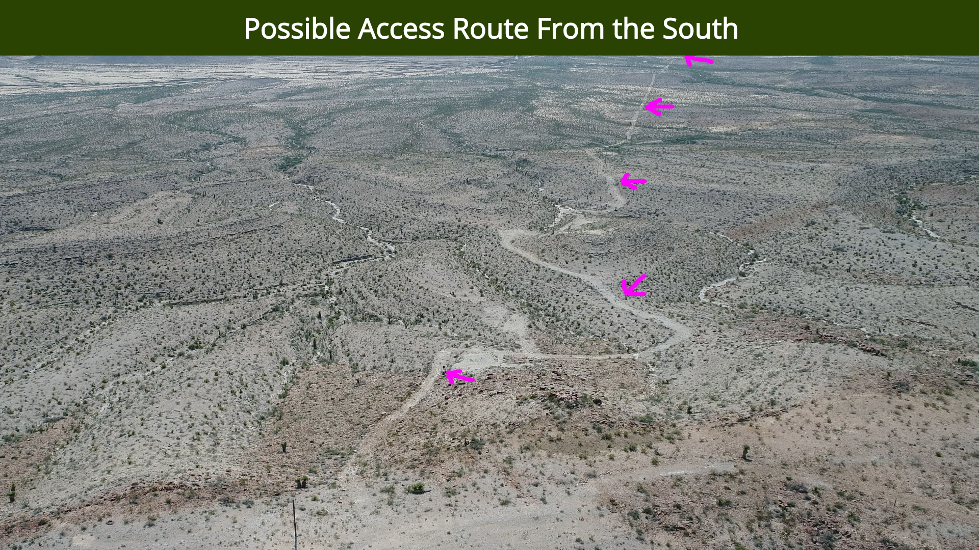Possible Access Route From the South