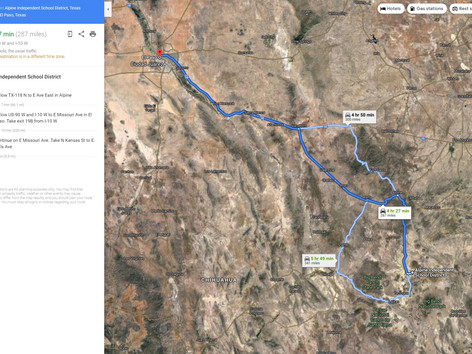 Driving Directions to El Paso, Texas.JPG