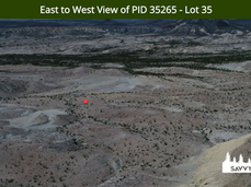 East to West View of PID 35265 - Lot 35.