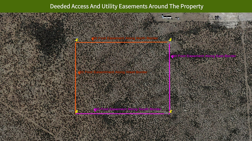 Deeded Access And Utility Easements Arou