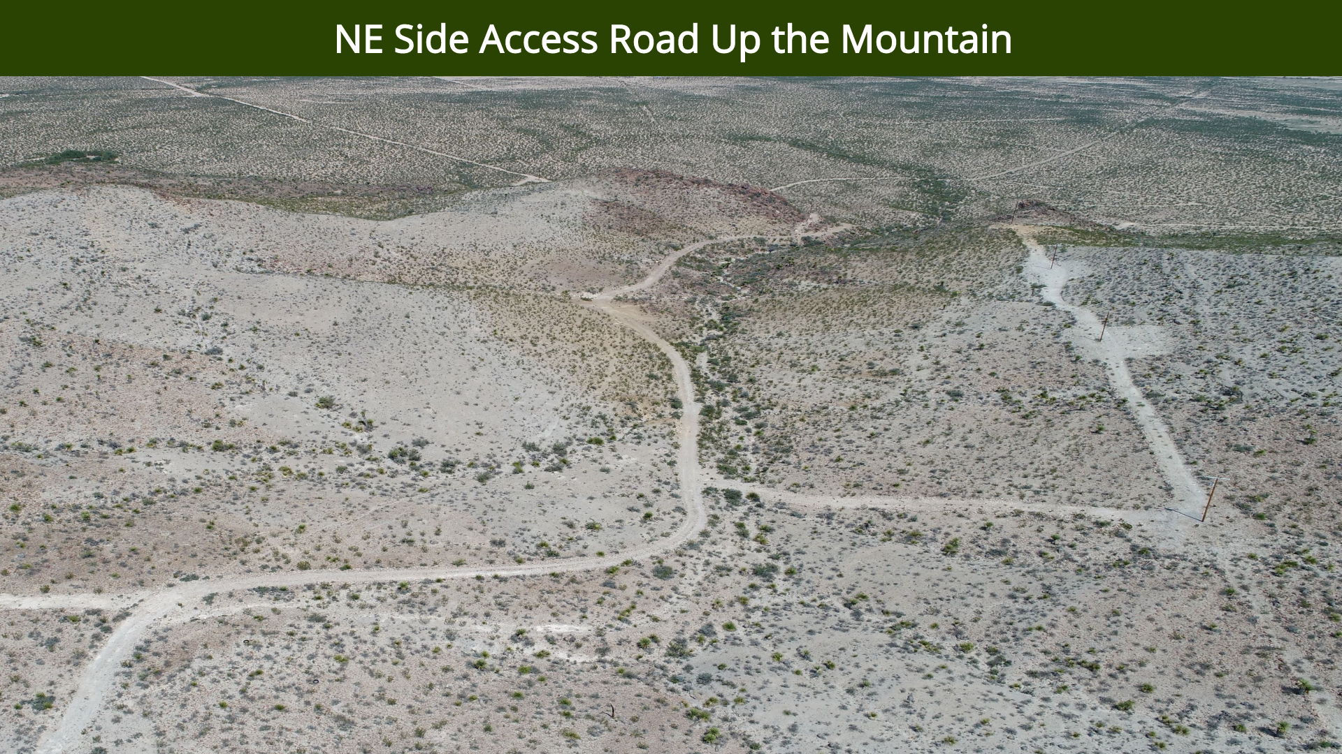 NE Side Access Road Up the Mountain