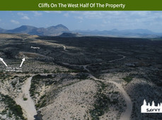 Cliffs On The West Half Of The Property.