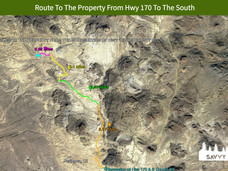 Route To The Property From Hwy 170 To Th