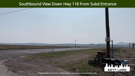 Southbound View Down Hwy 118 From Subd E