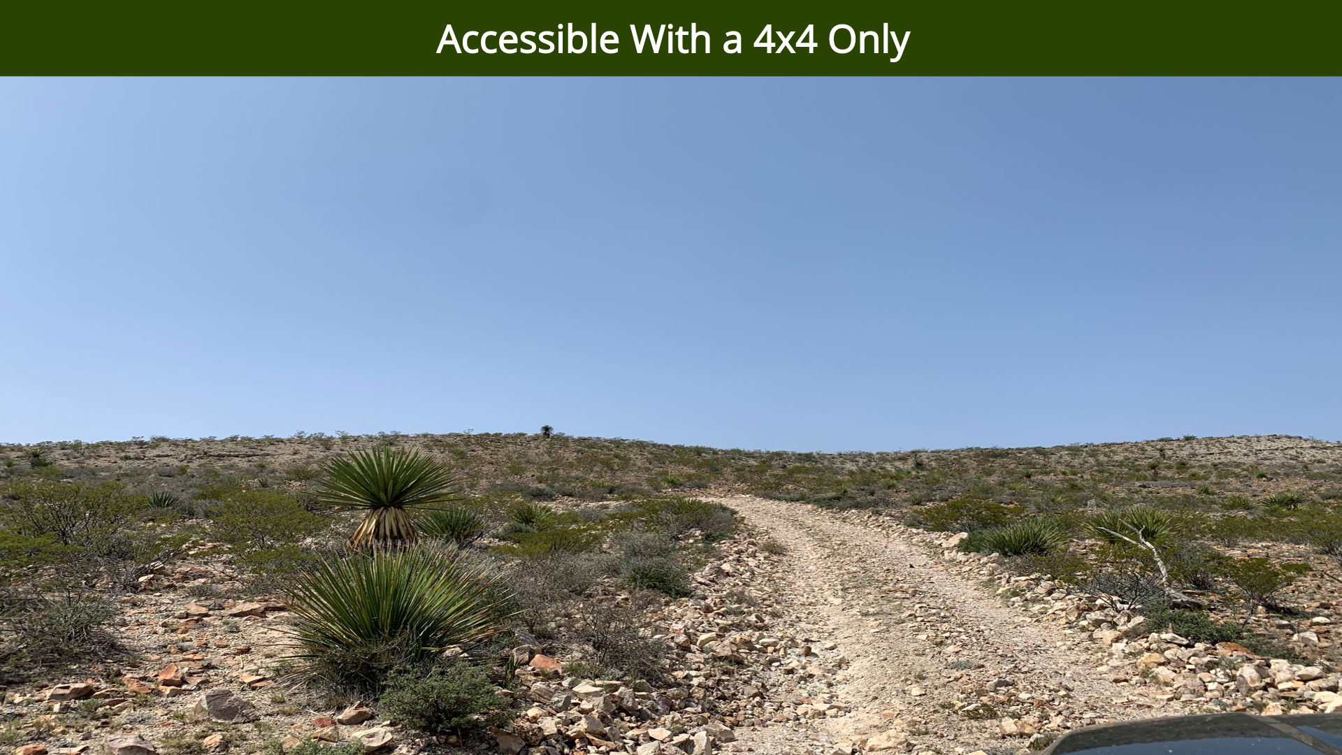 Accessible With a 4x4 Only