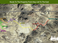 Route To The Property From Hwy 118 To Th