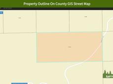 Property Outline On County GIS Street Ma