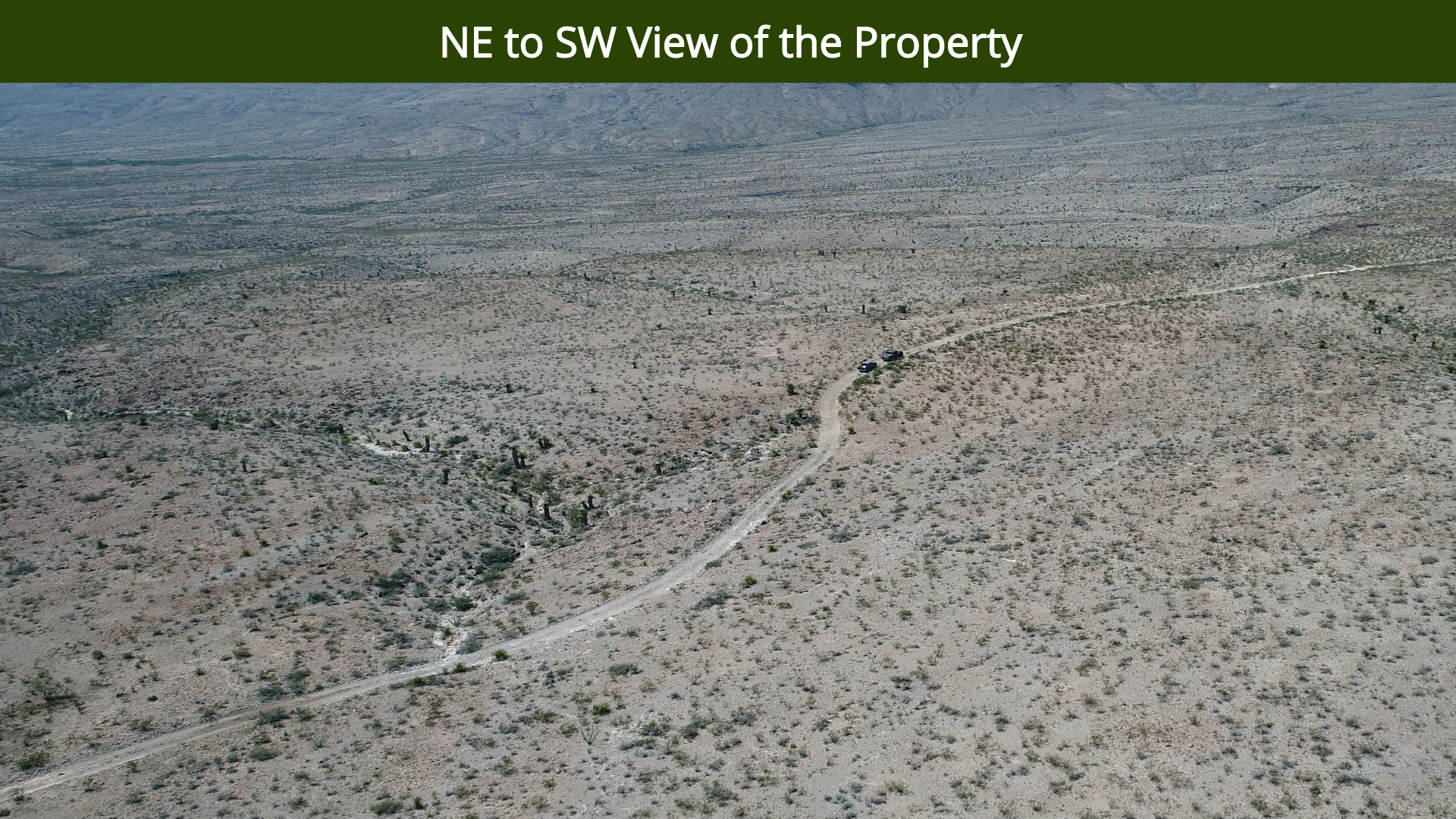 NE to SW View of the Property