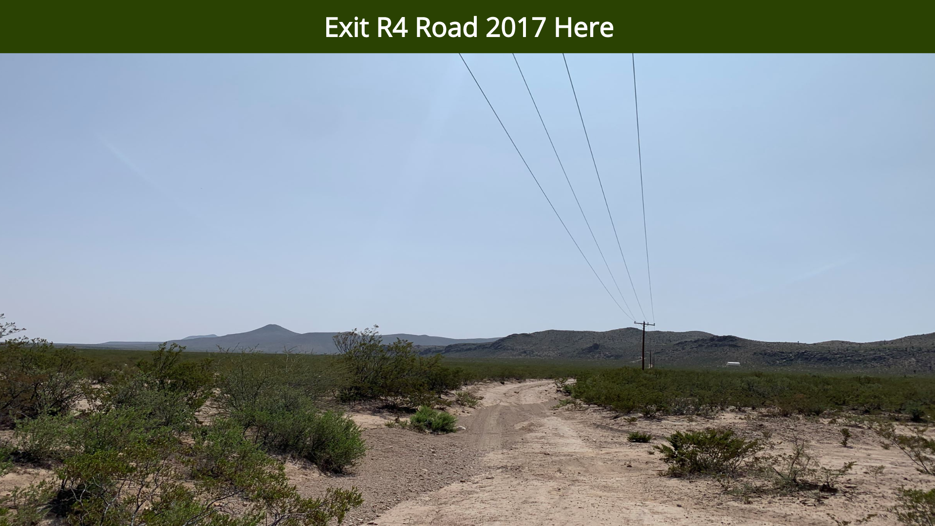 Exit R4 Road 2017 Here