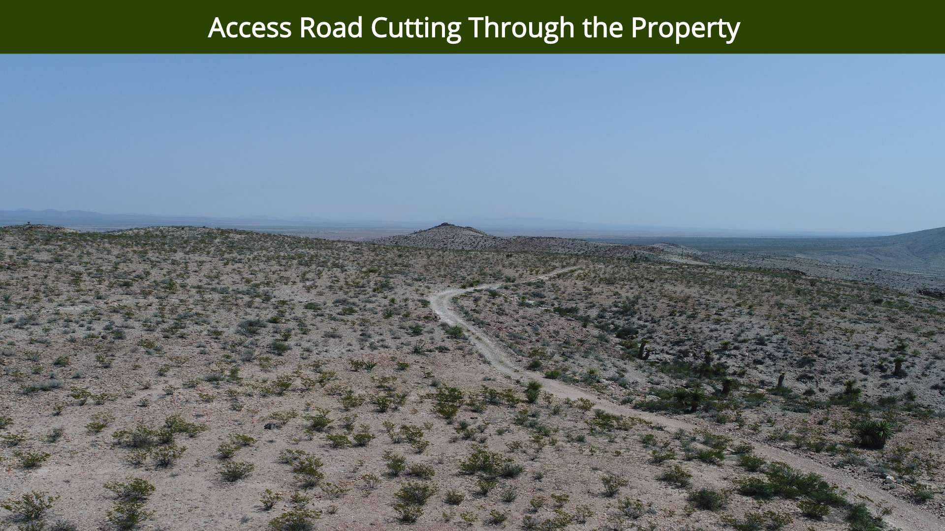 Access Road Cutting Through the Property