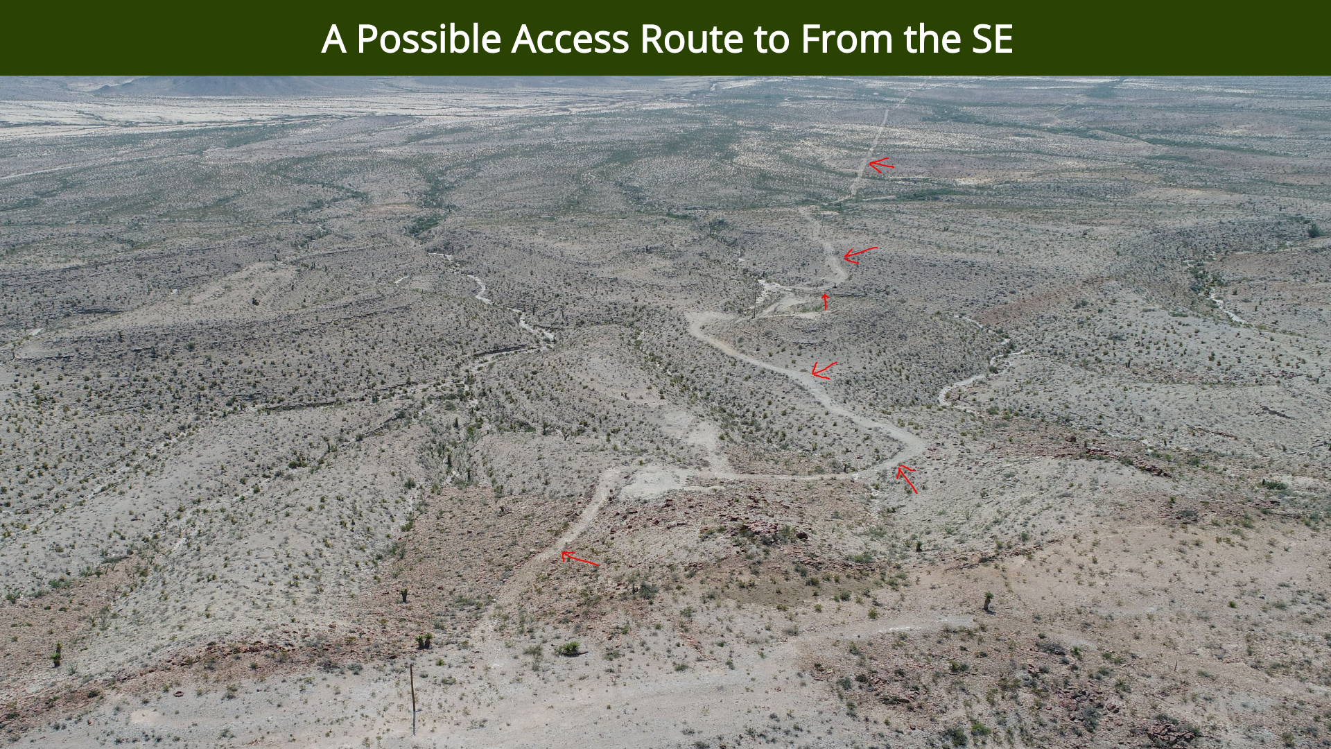 A Possible Access Route to From the SE