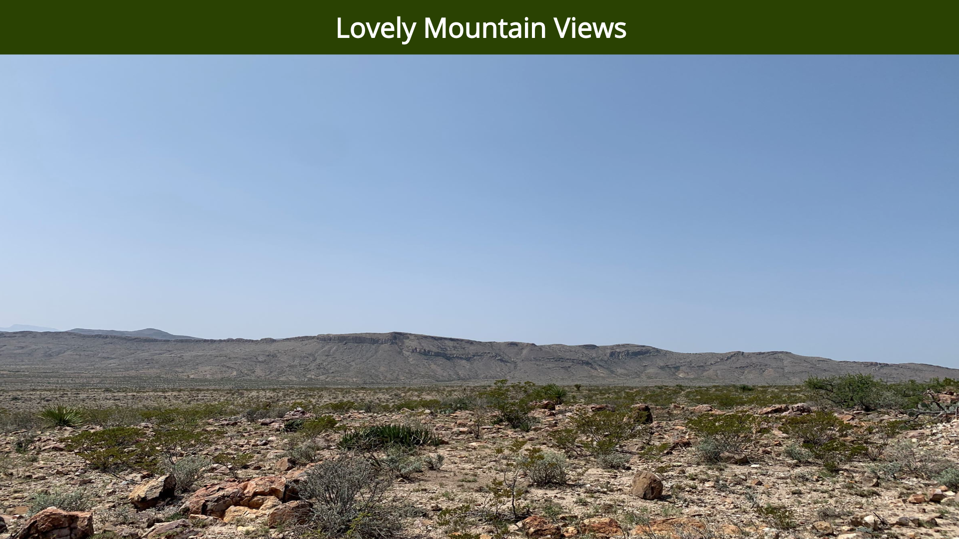 Lovely Mountain Views