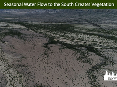 Seasonal Water Flow to the South Creates