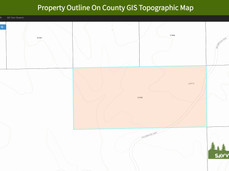 Property Outline On County GIS Topograph