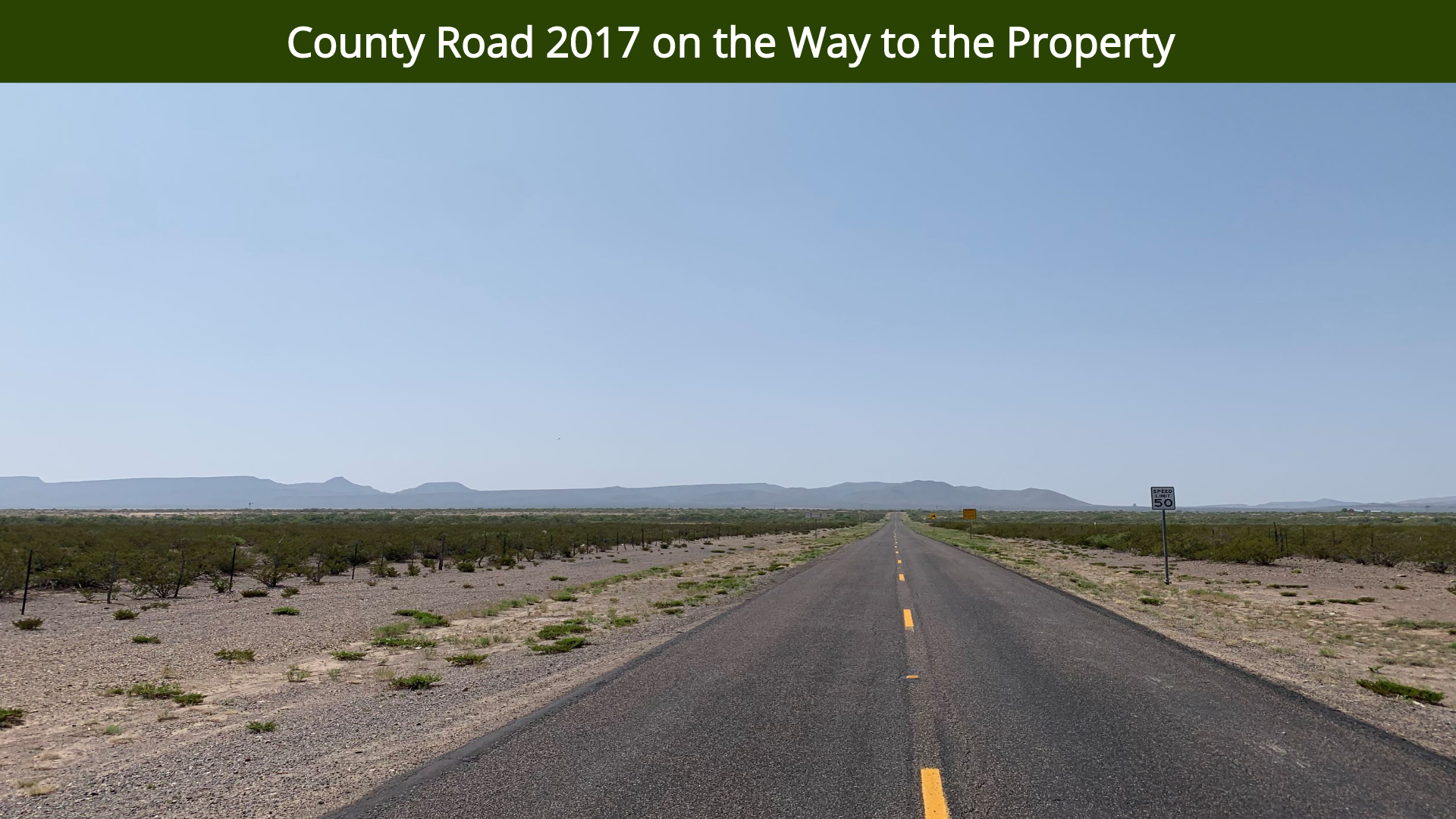 County Road 2017 on the Way to the Prope