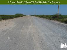 E County Road 112 Runs 650 Feet North Of