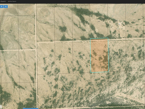 Property Outline on County Satellite Map