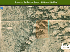 Property Outline on County CAD Satellite