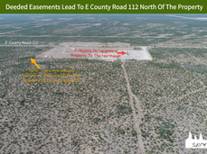 Deeded Easements Lead To E County Road 1