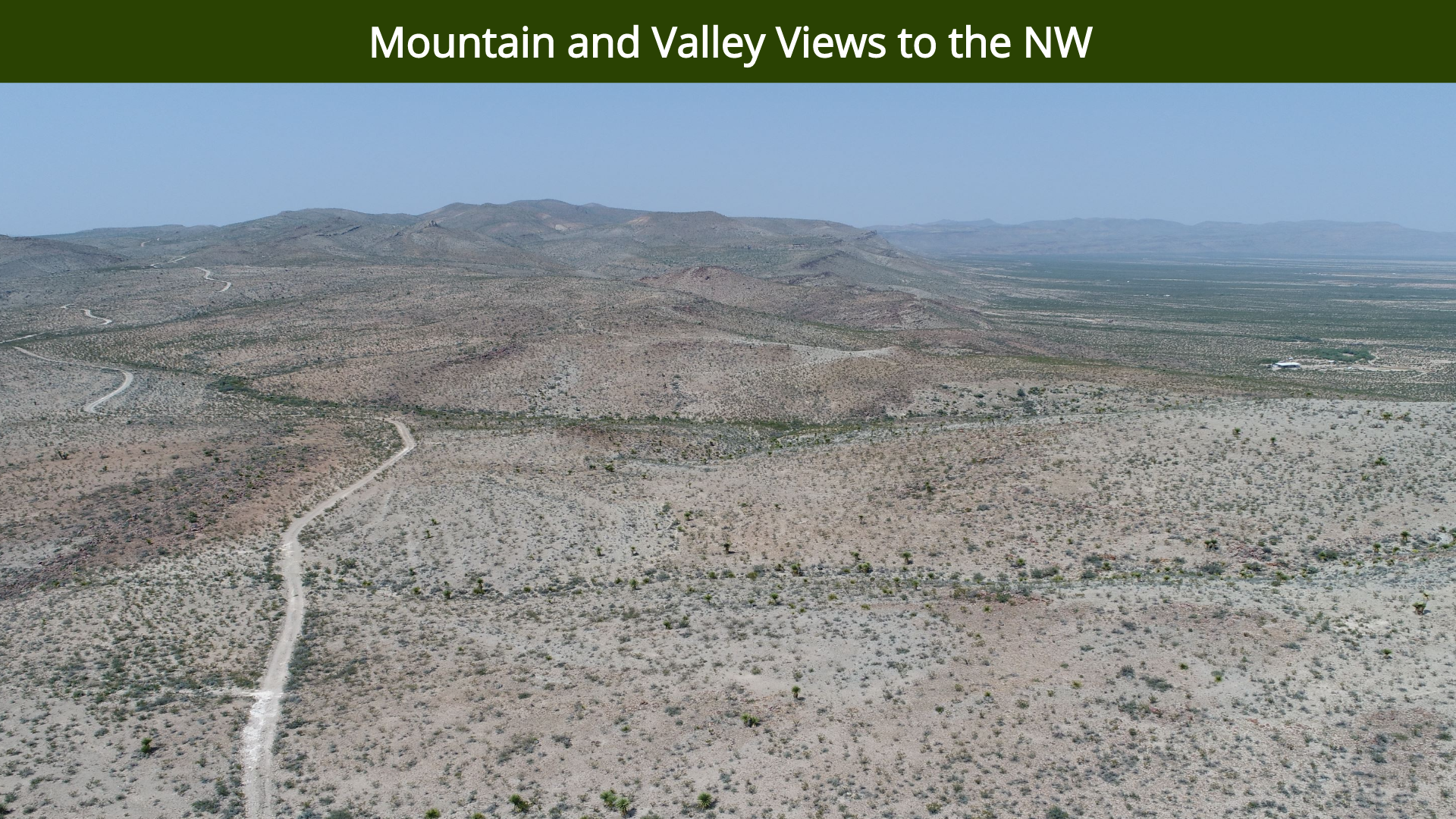 Mountain and Valley Views to the NW