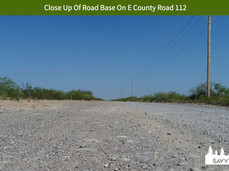 Close Up Of Road Base On E County Road 1