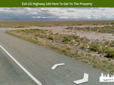 Exit US Highway 160 Here To Get To The P
