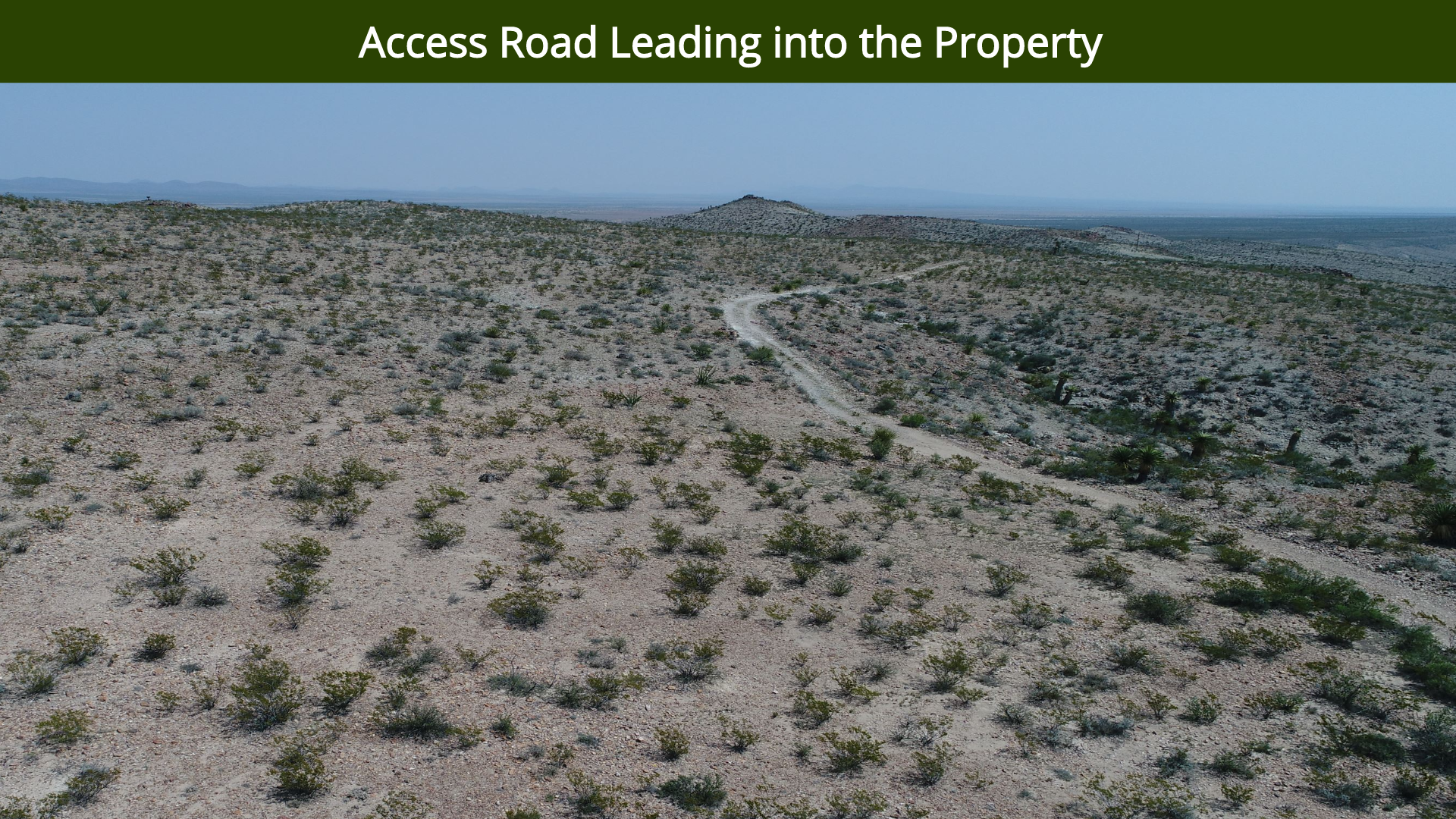 Access Road Leading into the Property