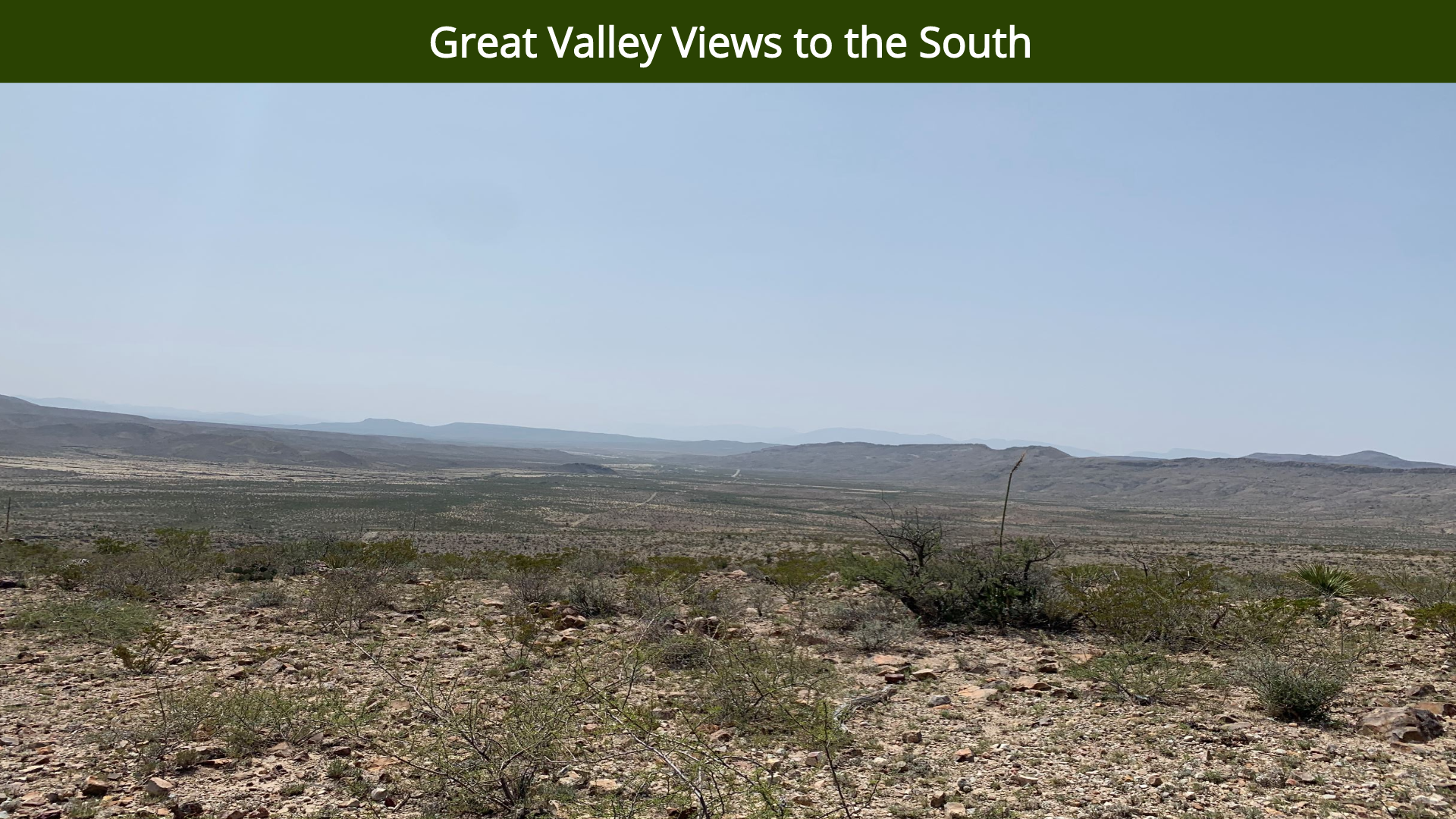 Great Valley Views to the South