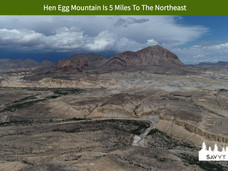 Hen Egg Mountain Is 5 Miles To The North