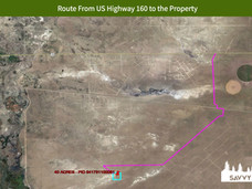 Route From US Highway 160 to the Propert