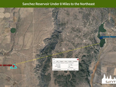 Sanchez Reservoir Under 8 Miles to the N
