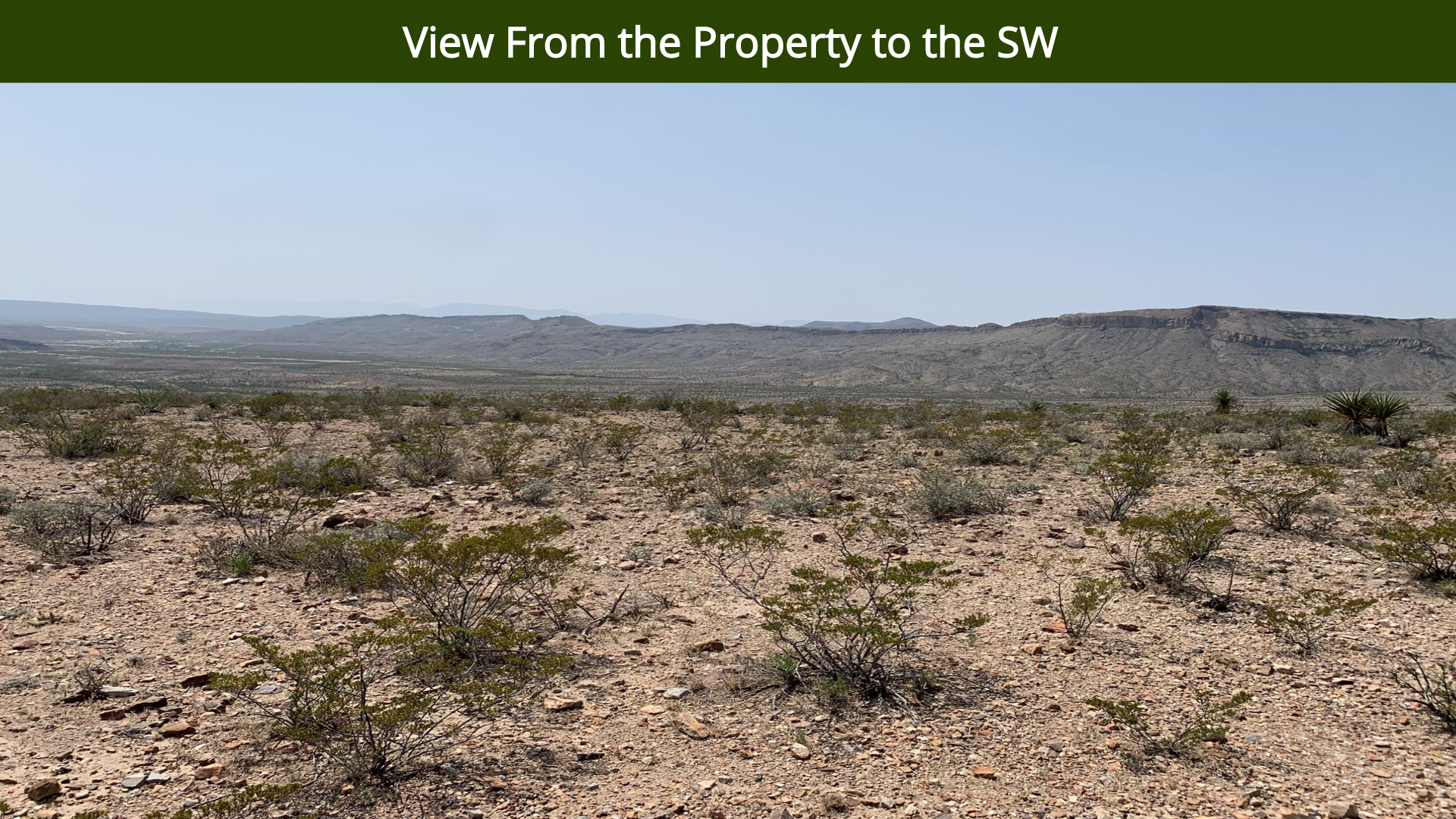 View From the Property to the SW