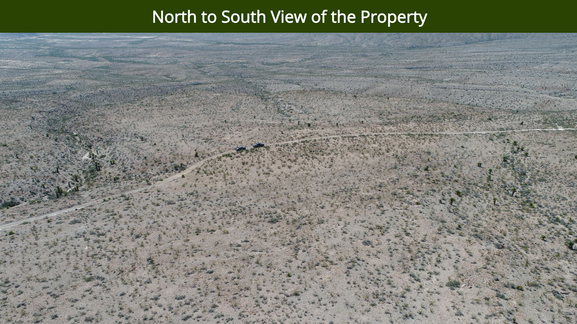 North to South View of the Property