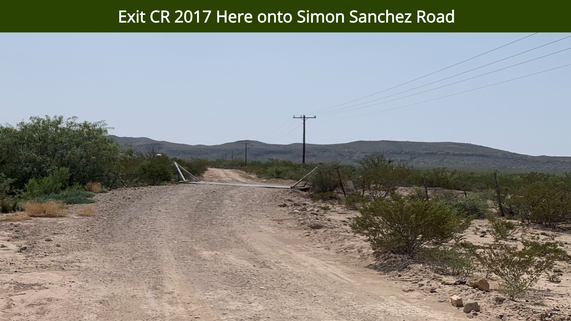 Exit CR 2017 Here onto Simon Sanchez Roa
