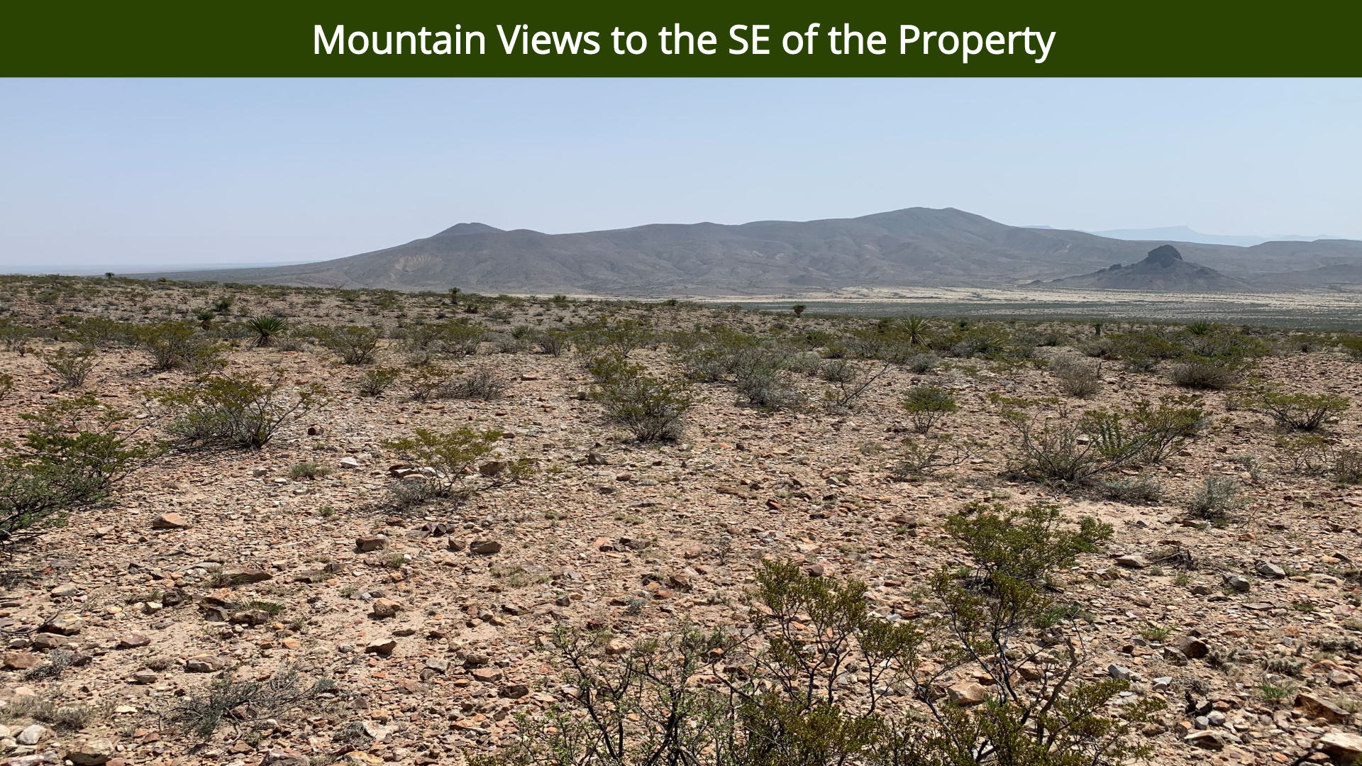 Mountain Views to the SE of the Property