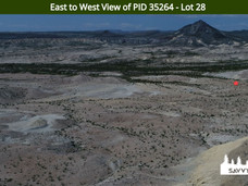 East to West View of PID 35264 - Lot 28.
