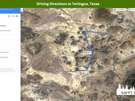 Driving Directions to Terlingua, Texas.j