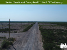 Western View Down E County Road 112 Nort