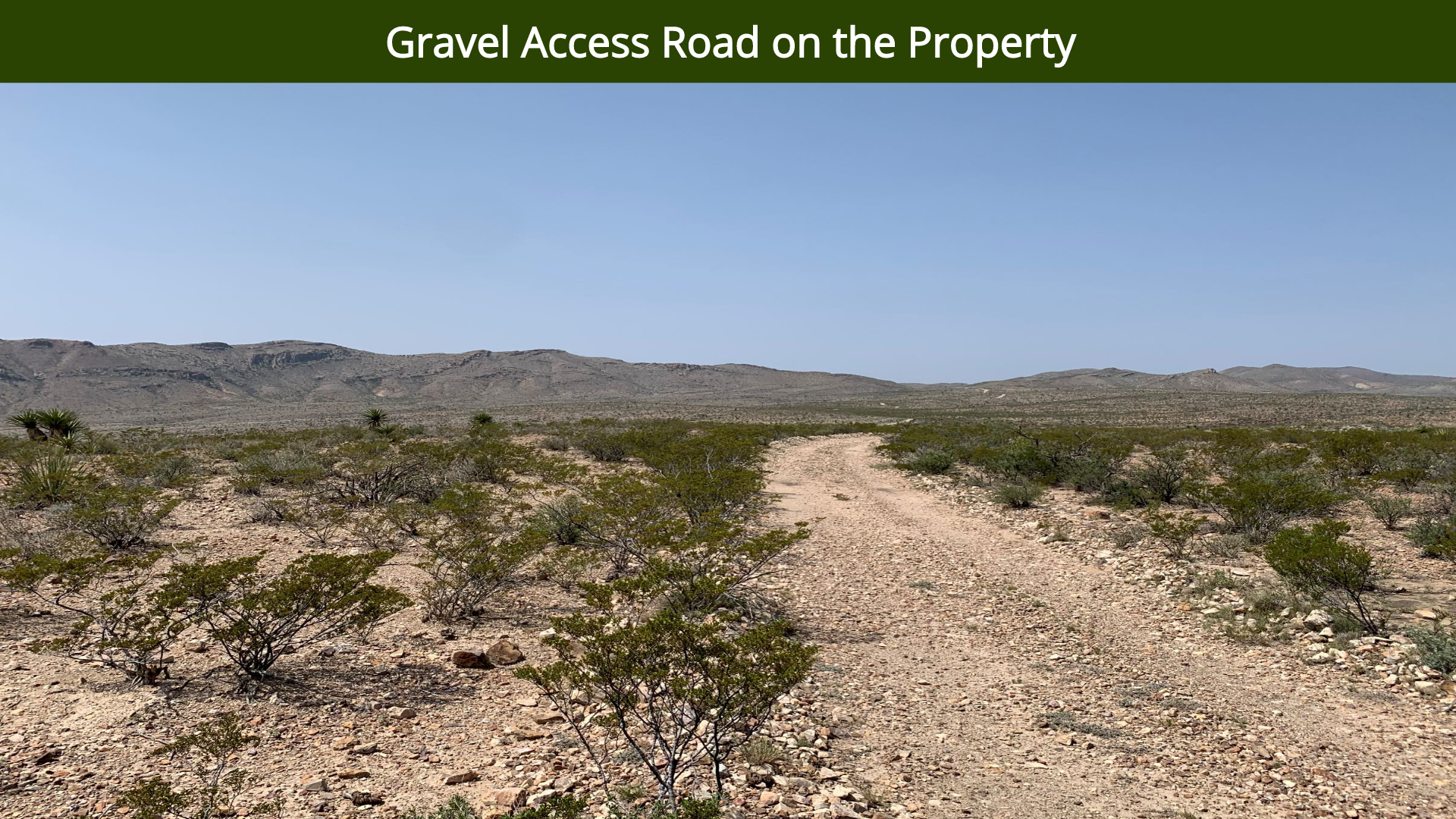 Gravel Access Road on the Property
