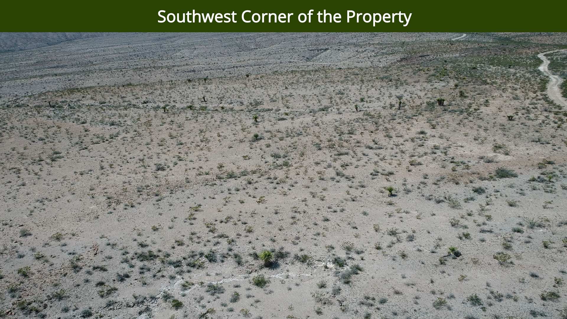 Southwest Corner of the Property