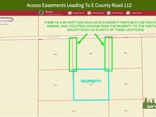 Access Easements Leading To E County Roa