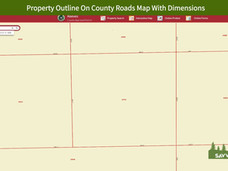 Property Outline On County Roads Map Wit