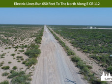 Electric Lines Run 650 Feet To The North