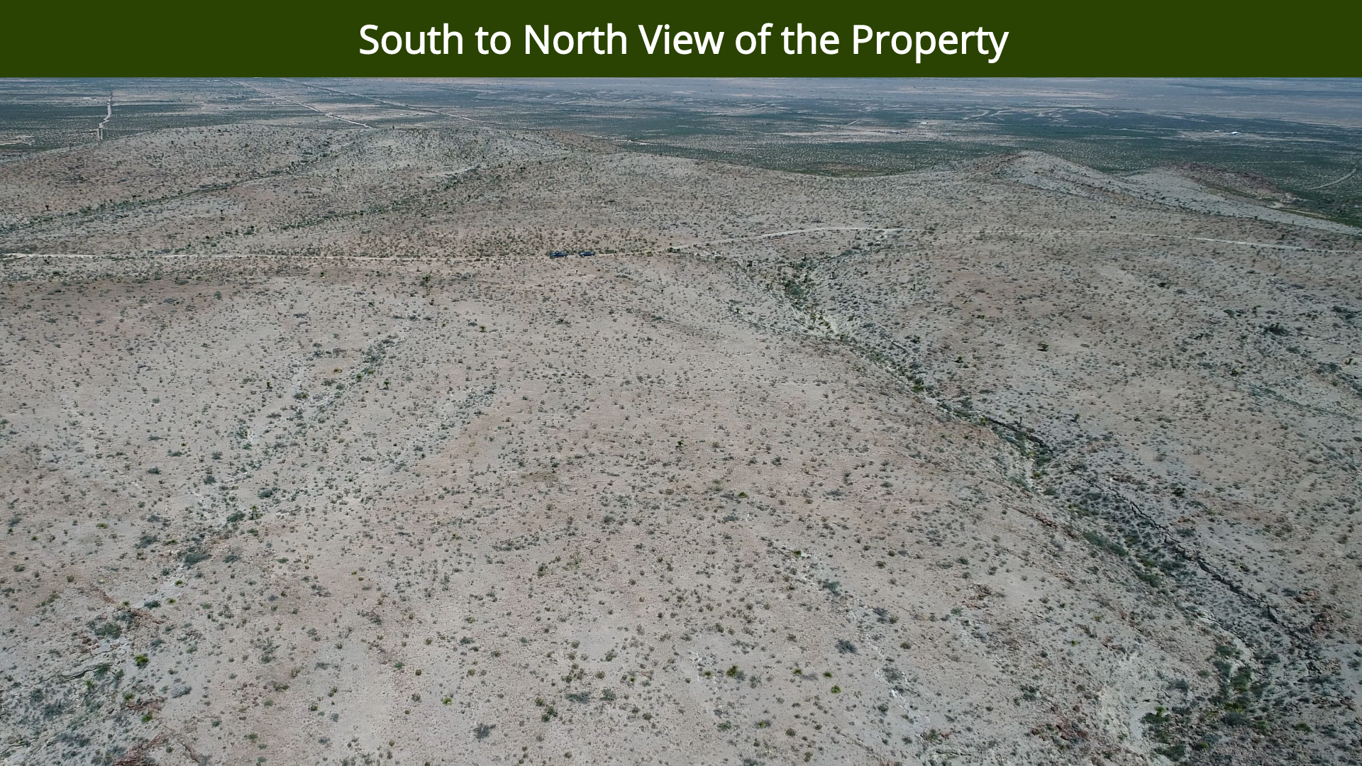South to North View of the Property