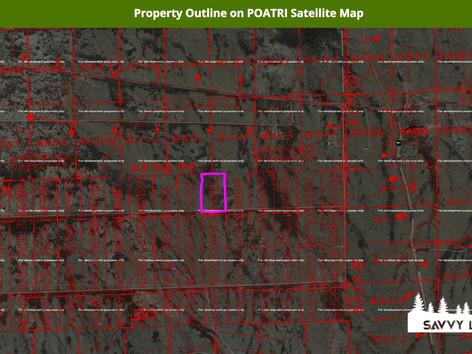 Property Outline on POATRI Satellite Map