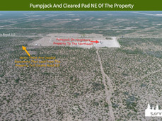 Pumpjack And Cleared Pad NE Of The Prope