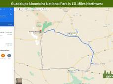 Guadalupe Mountains National Park is 121