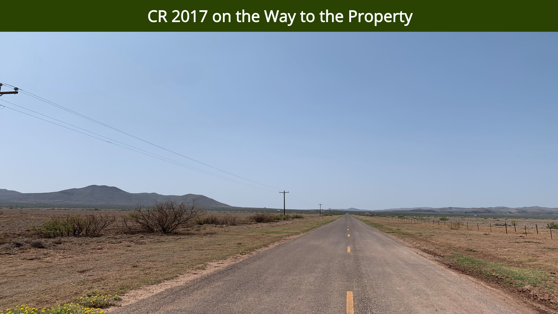 CR 2017 on the Way to the Property